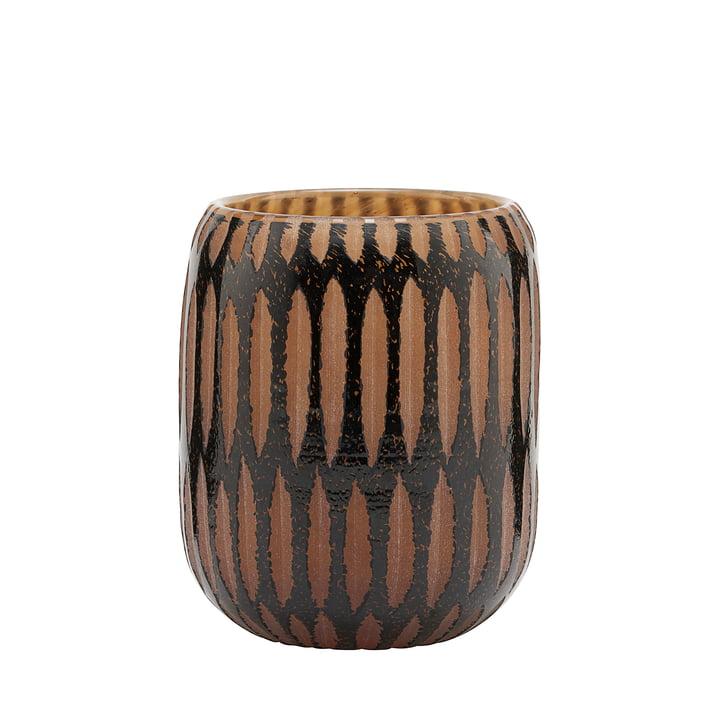 Le vase, Pimpri, Ø 10 x H 12 cm, noir / marron par House Doctor