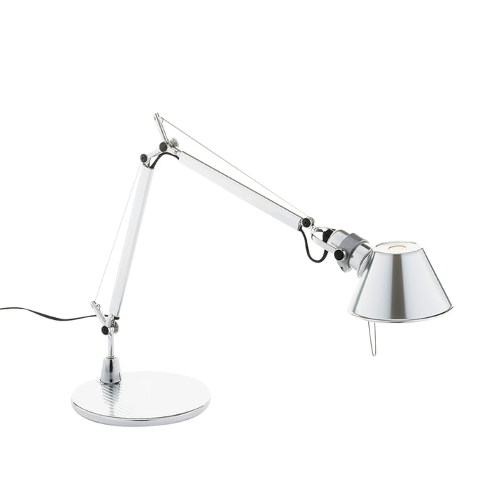 Lampe de table Tolomeo Micro par Artemide en aluminium poli brillant