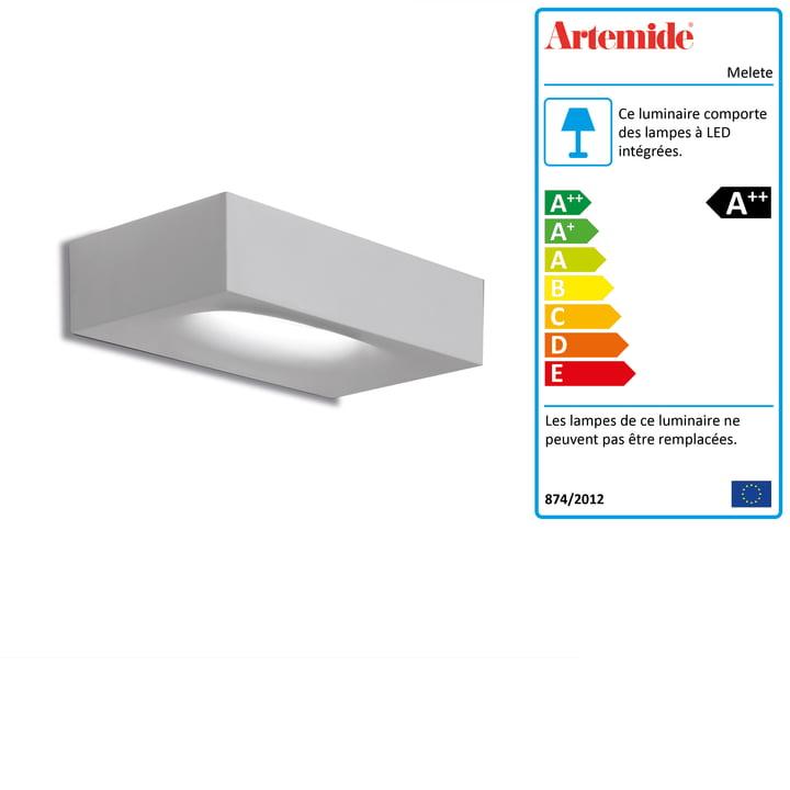 Applique murale LED Melete, 2700K / blanc d' Artemide