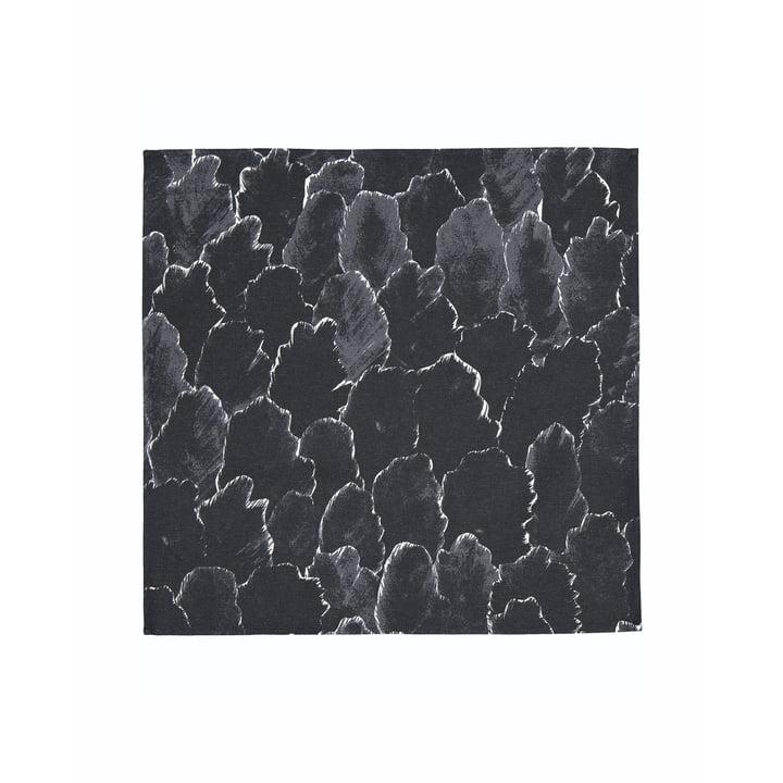 La serviette Käpykangas 45 x 45 cm, gris foncé / blanc par Marimekko