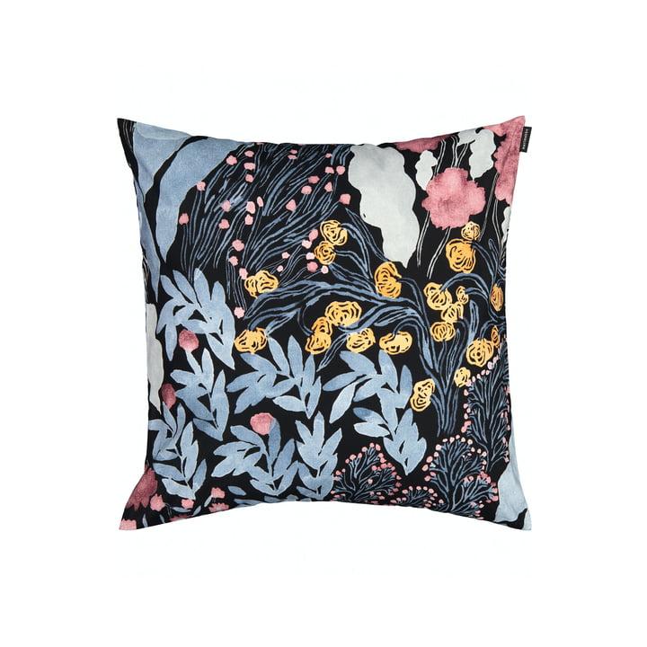 La taie d'oreiller Louhu 50 x 50 cm, noir / bleu / rouge par Marimekko