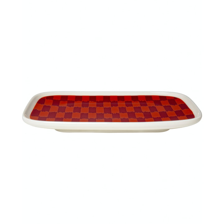L'assiette de service Piekana 15 x 12 cm, rouge foncé / orange de Marimekko