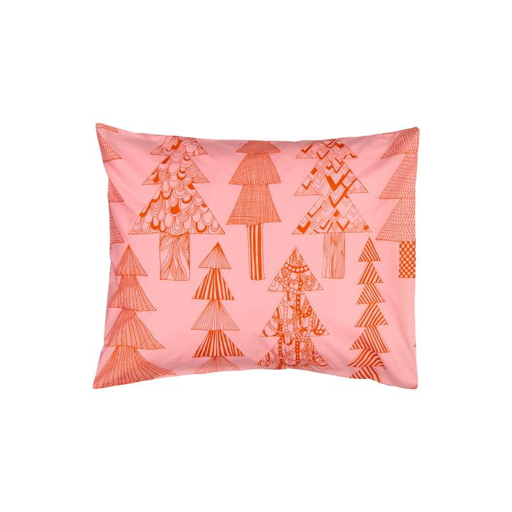 La taie d'oreiller Kuusikossa 50 x 60 cm, rose / rouge par Marimekko