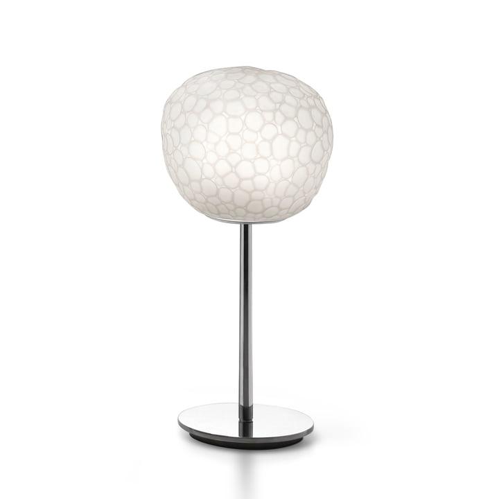 Lampe de table Meteorite 15 avec base d' Artemide en blanc
