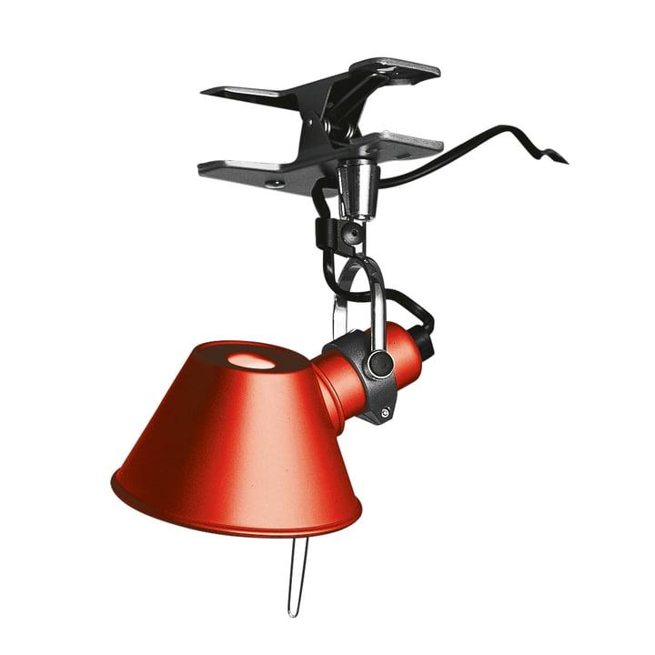 Lampe à pince Tolomeo Micro Pinza d' Artemide en rouge