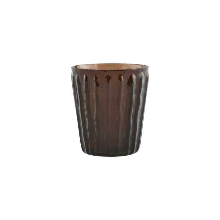 Photophore Tinka, Ø 7 cm, marron par House Doctor