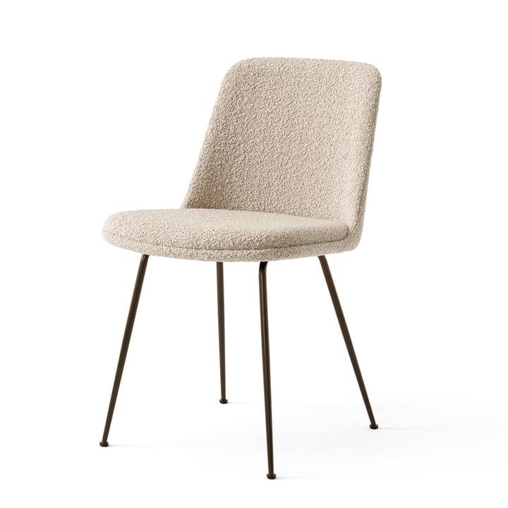 La Rely Chair HW9, acier bronzé / Karakorum 003 par & tradition