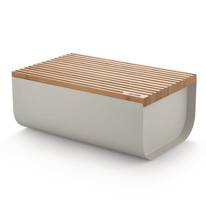 La boîte à pain Mattina avec planche à découper, bambou / gris par Alessi