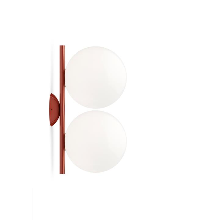 Applique et plafonnier IC C / W1 DOUBLE, rouge bordeaux - Flos