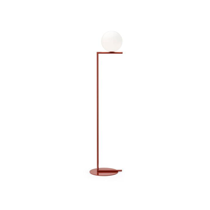 Lampadaire IC F1 BRO, rouge bordeaux - Flos