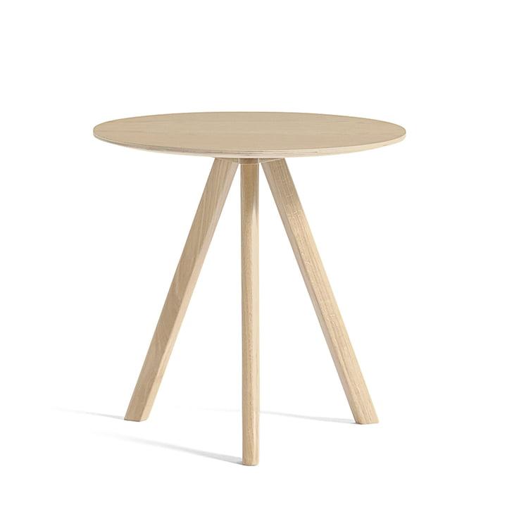 La table d'appoint Copenhague CPH20 Ø 50 cm, chêne laqué mat par Hay