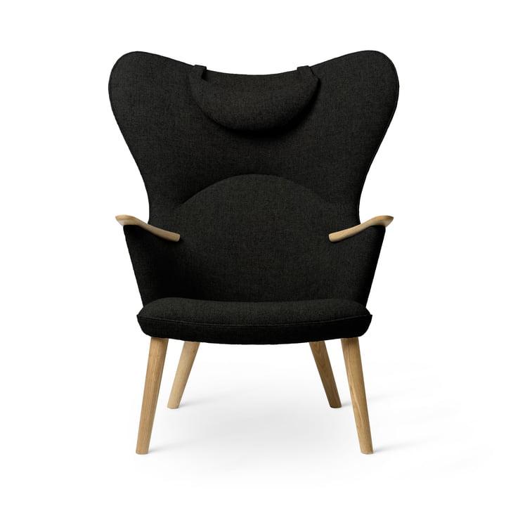 Le fauteuil CH78 Mama Bear, chêne huilé / Fiord 0991 de Carl Hansen