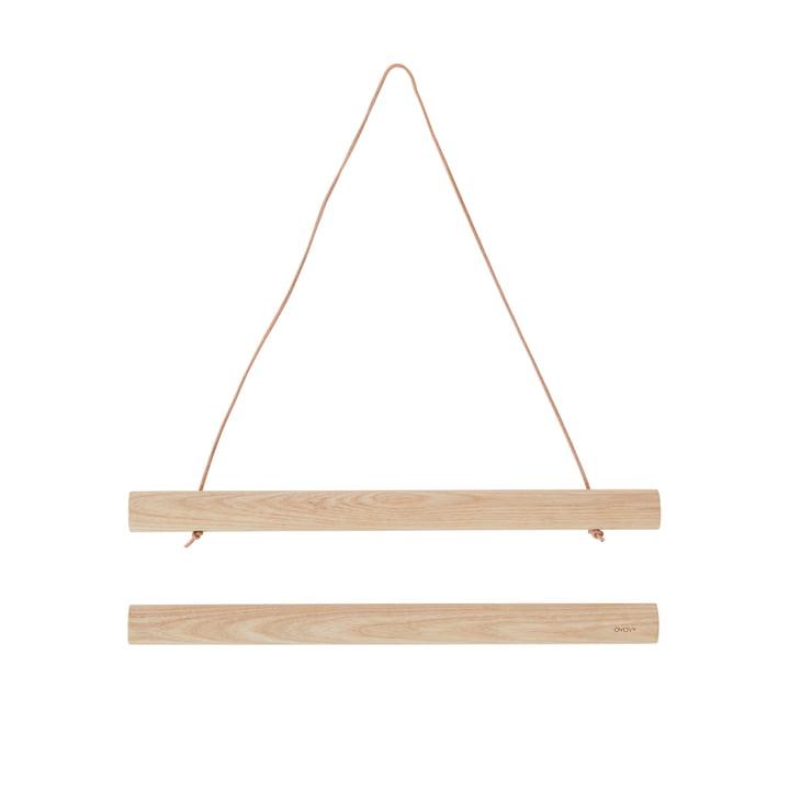 Le tableau moulures bois, 33 cm, cendres de OYOY