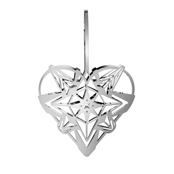 Le coeur de Noël de Karen Blixens, H 25,6 cm, argent par Rosendahl