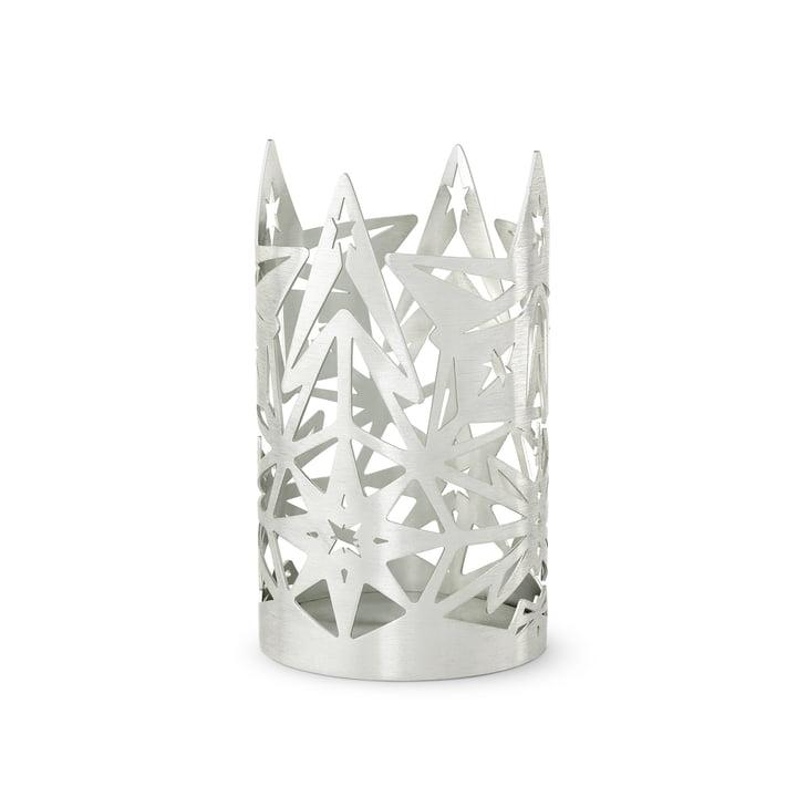 Le bloc bougeoir Karen Blixen, H 13,5 x Ø 8 cm, argent par Rosendahl