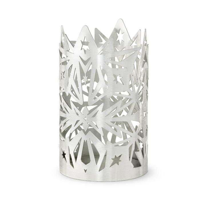 Le chandelier en bloc Karen Blixen, H 16 x Ø 9,5 cm, argent par Rosendahl