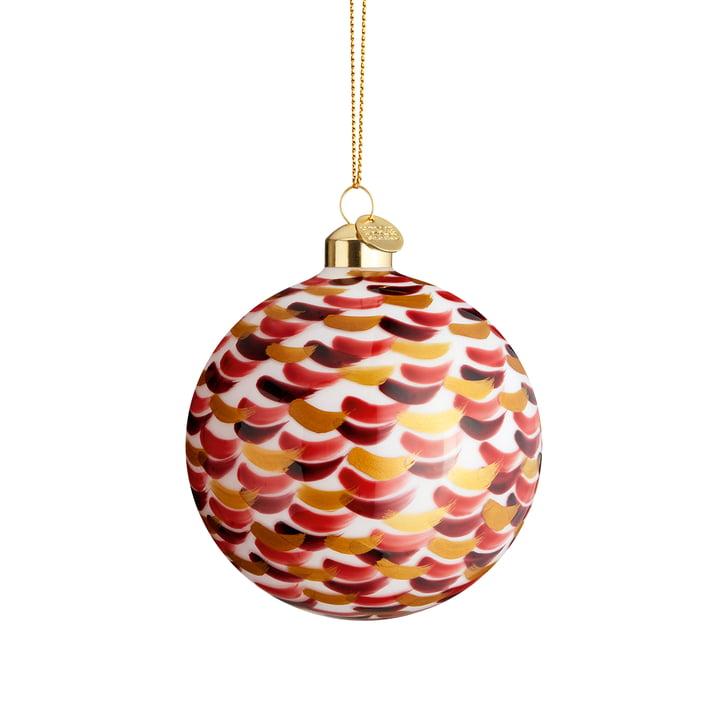 La boule de Noël Souvenir, Ø 8 cm, pointillé rouge de Holmegaard