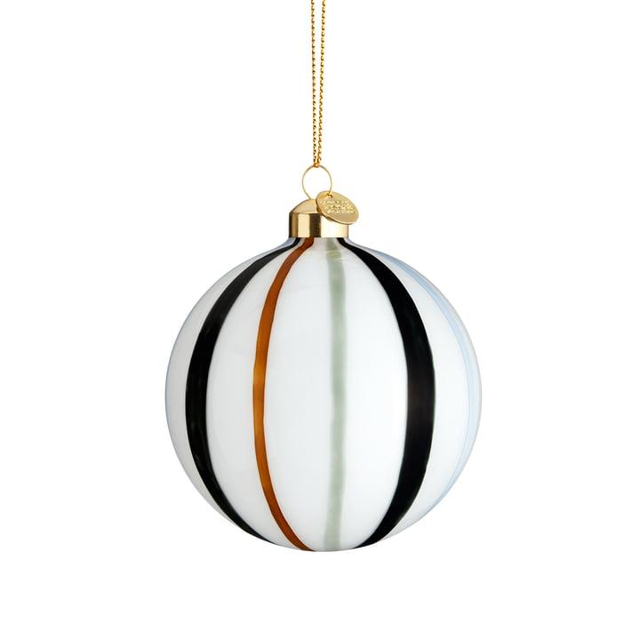 La boule de Noël Souvenir, Ø 8 cm, verte rayée de Holmegaard