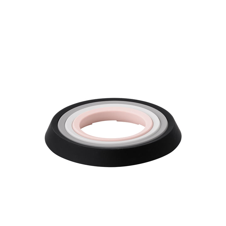 Les Place-It sous-verres, noir / gris foncé / gris clair / rose (ensemble de 4) de Rig-Tig par Stelton