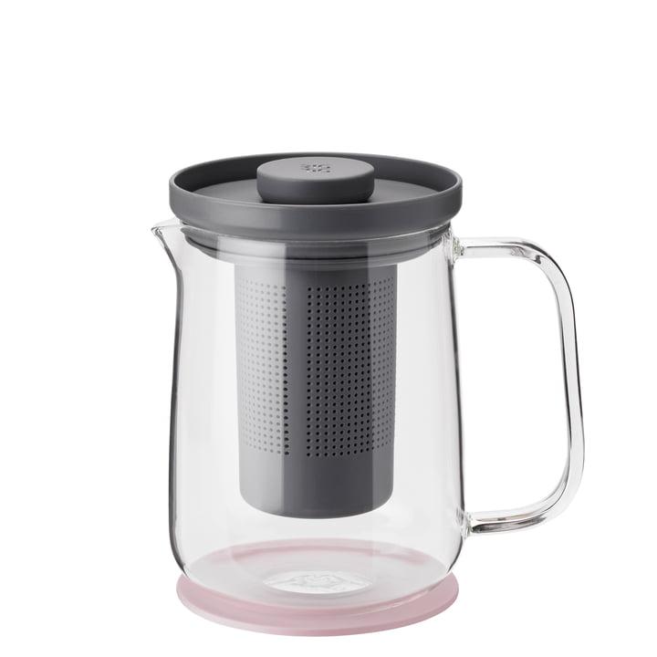Brew-It Théière 0,7 l, transparent / gris / rose de Rig-Tig par Stelton