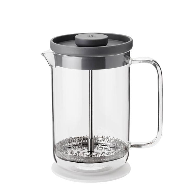 Cruche filtre Brew-It pressée 0,8 l, transparente / grise de Rig-Tig par Stelton