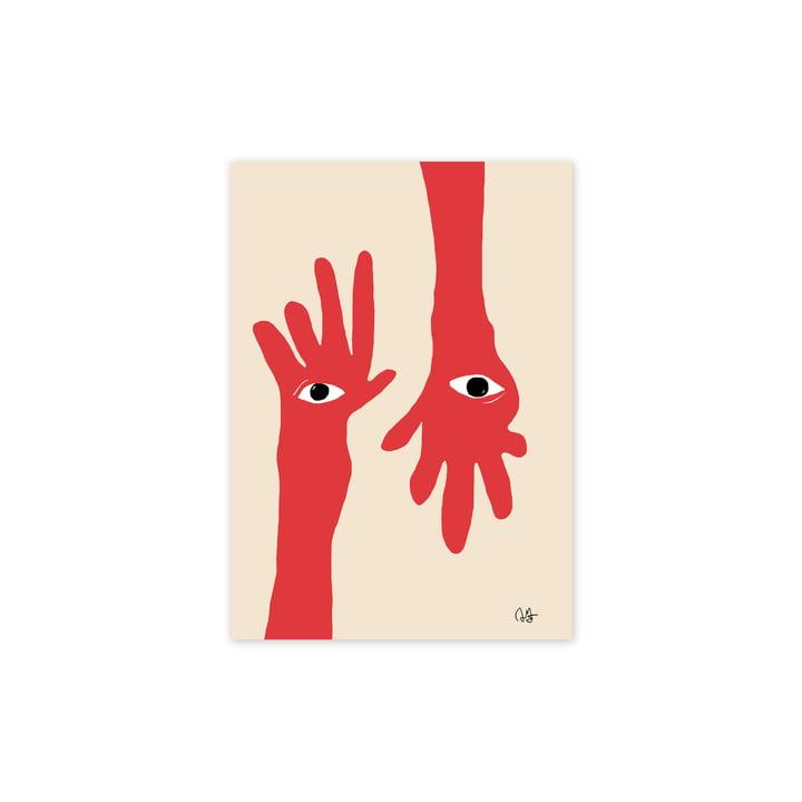 L' Hamsa Hands affiche, 30 x 40 cm de Paper Collective