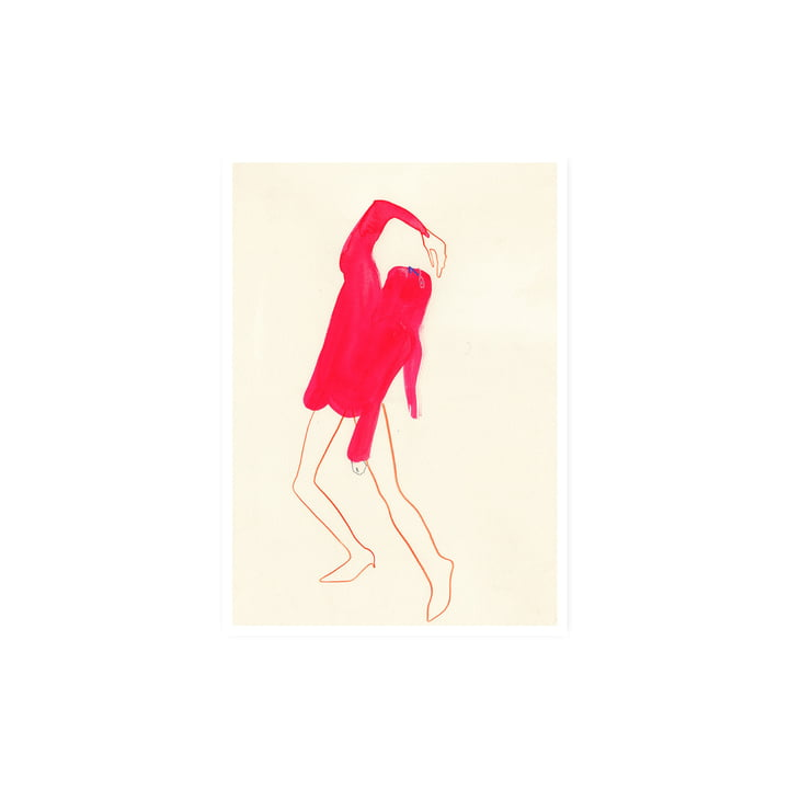 The Pink Pose Affiche, 30 x 40 cm de Paper Collective