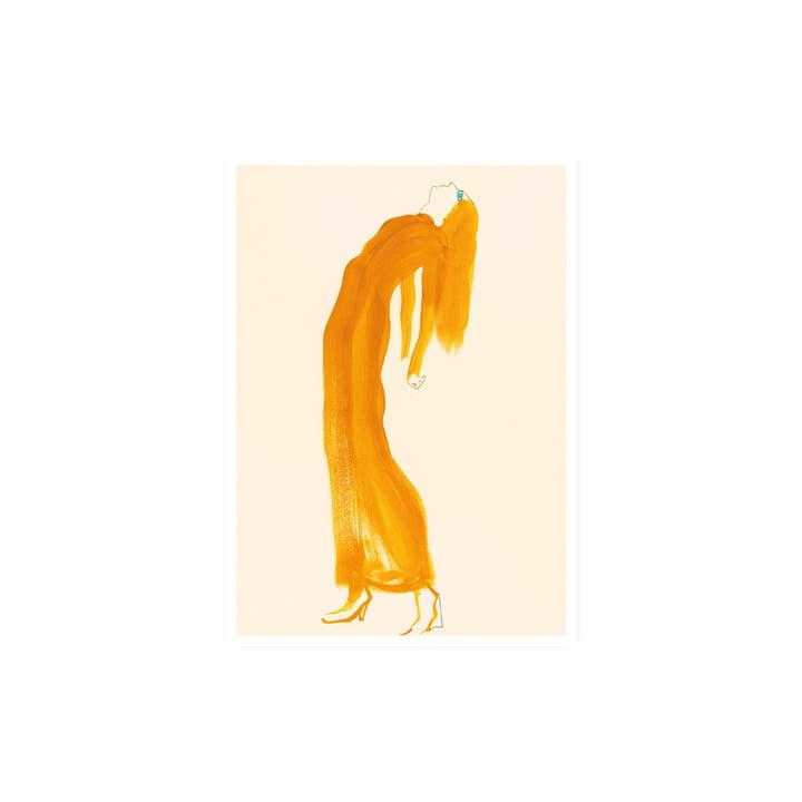 The Saffron Dress Affiche, 30 x 40 cm de Paper Collective