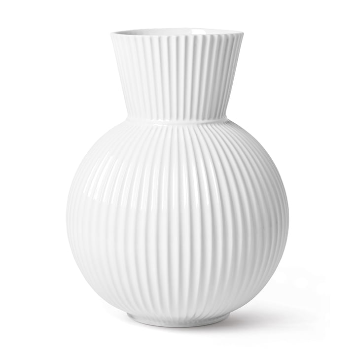 Le vase Lyngby Tura, h 34 cm, blanc de Lyngby Porcelæn