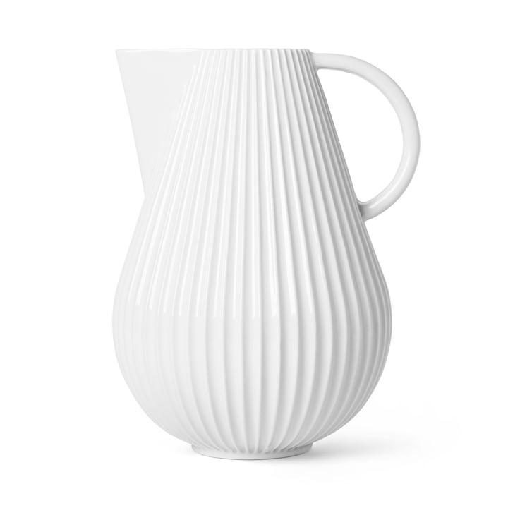 Le vase Lyngby Tura Jug, h 27,5 cm, blanc de Lyngby Porcelæn