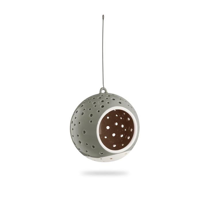 Nobili Bougie à chauffe-plat boule Ø 12 cm, suspendue / vert olive de Kähler Design