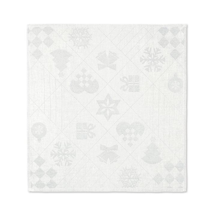 Natale Serviettes en tissu, 45 x 45 cm, blanc cassé de Juna