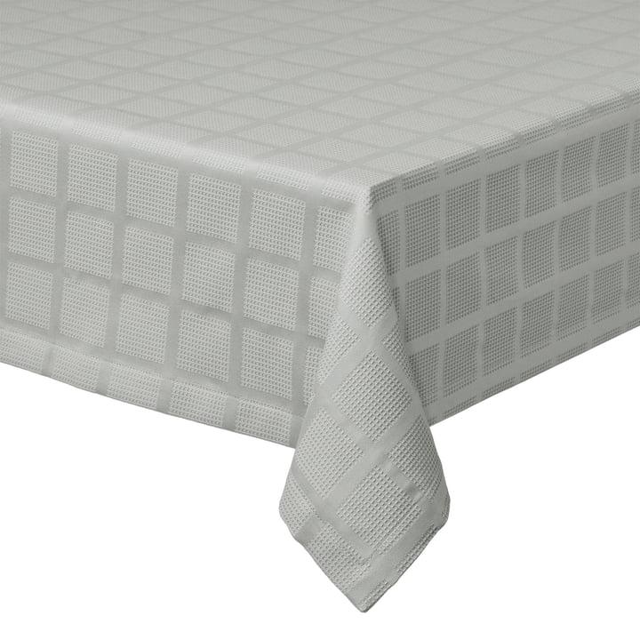 Brick Damast Nappe, 150 x 220 cm, gris par Juna