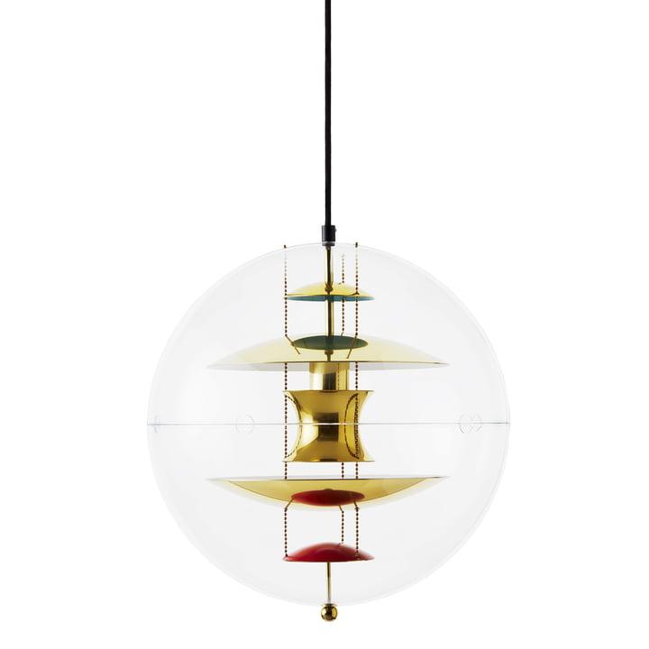 VP Globe Lampe à suspension Ø 40 cm, laiton / clair de Verpan