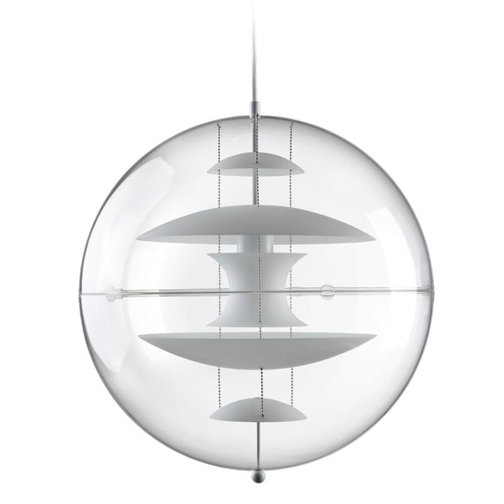 VP Globe Lampe à suspension Ø 50 cm, blanc opale / transparent de Verpan