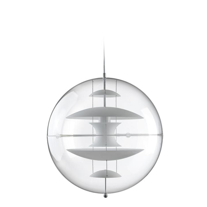 VP Globe Lampe à suspension Ø 40 cm, blanc opale / transparent de Verpan