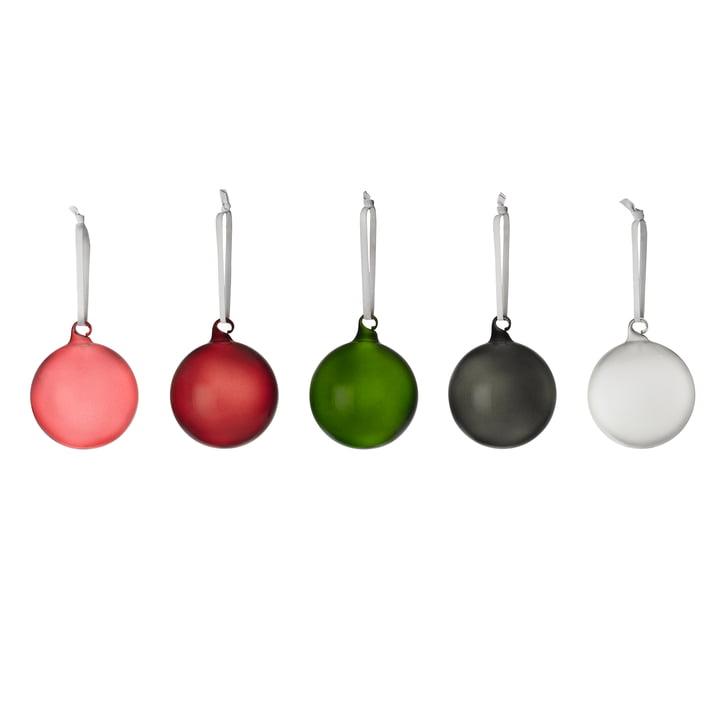 Boules de Iittala verre de différentes couleurs (lot de 5)