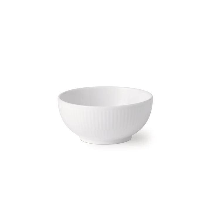 Le bol blanc nervuré 24 cl de Royal Copenhagen