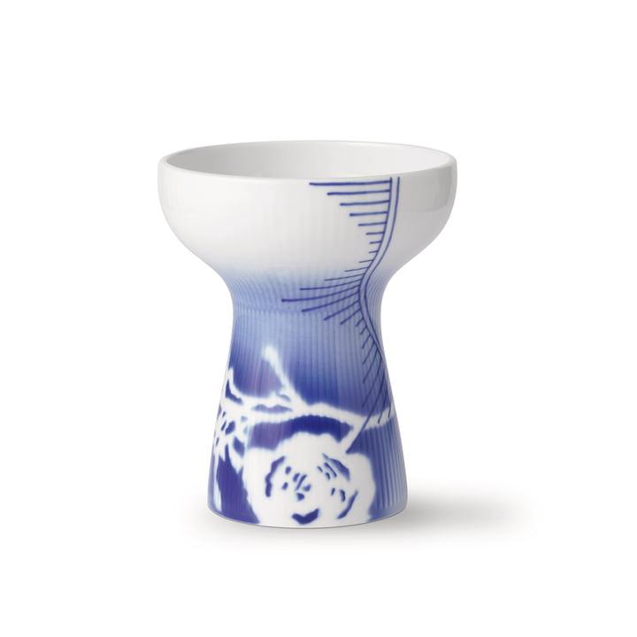 Le vase ouvert côtelé Mega Rose moyen H 15 cm (Edition limitée) de Royal Copenhagen