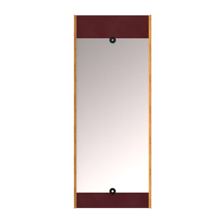 Le Layer miroir mural, rouge bordeaux de We Do Wood