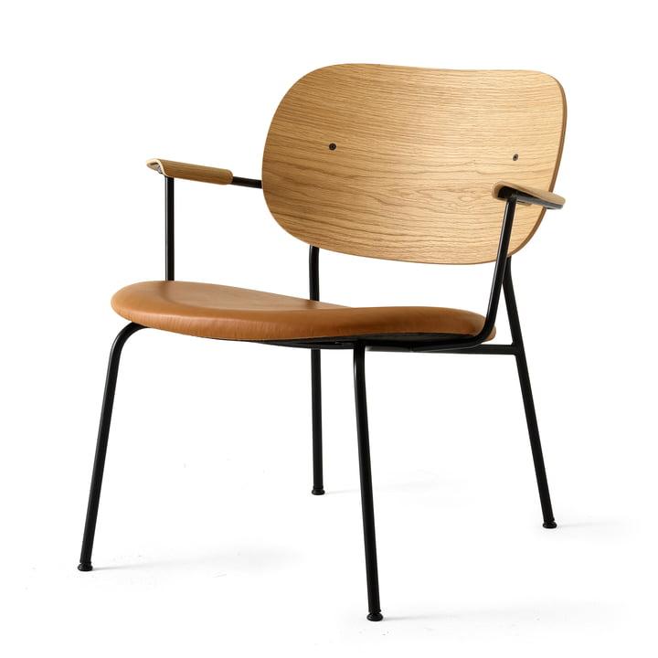 Co Chair Lounge Chair de Menu couleur noire (RAL 9005) / chêne naturel / Dakar 250