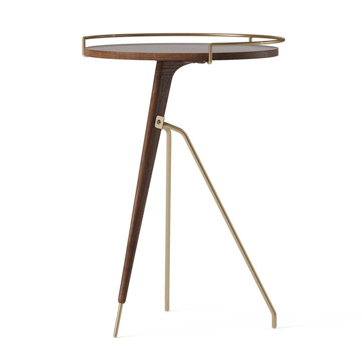 La table d'appoint Umanoff Ø 43 / 40 x H 60 cm, noyer / laiton de Menu