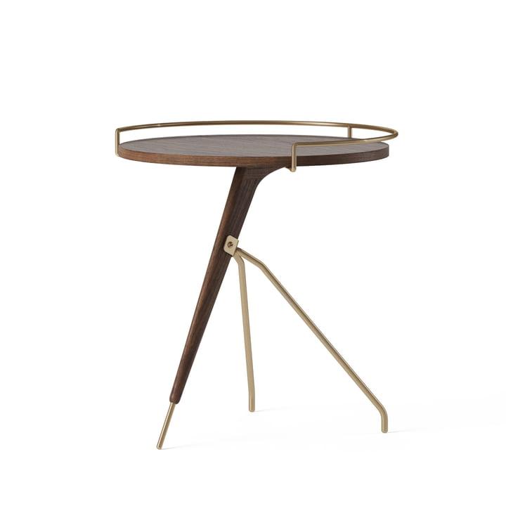 La table d'appoint Umanoff Ø 43 / 40 x H 45 cm, noyer / laiton de Menu