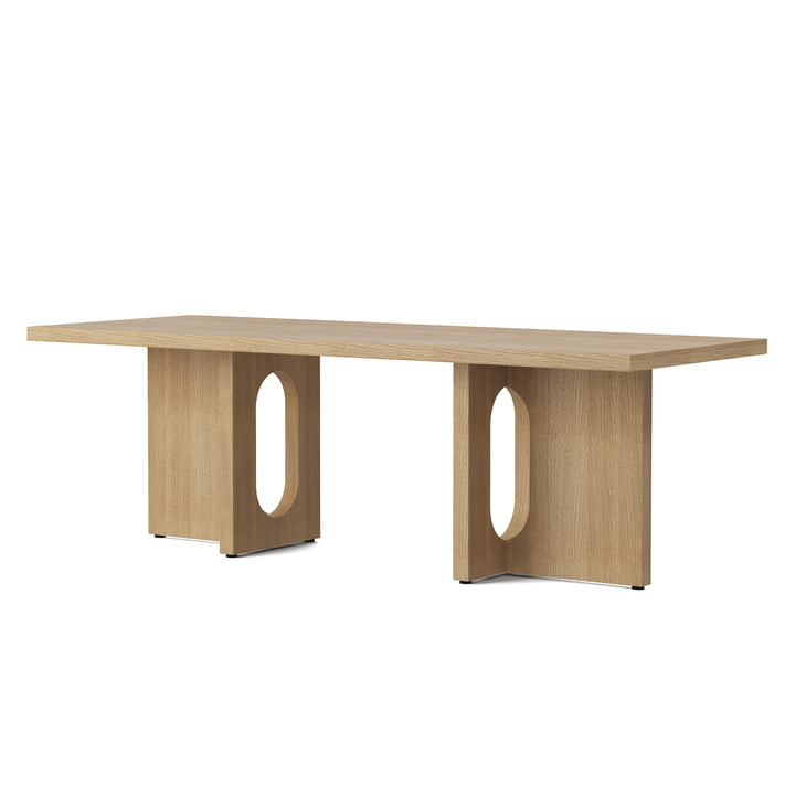 La table basse Androgyne 120 x 45 cm, chêne naturel de Menu