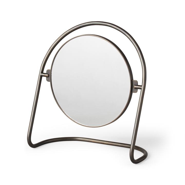 Le miroir de table Nimbus, bronze en laiton de Menu