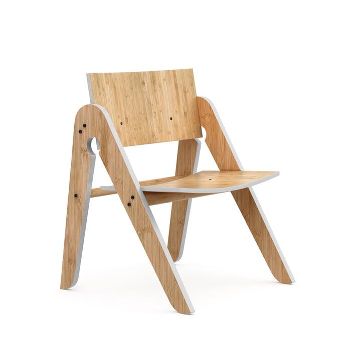 La chaise de Lilly, hêtre / bambou / gris clair par We Do Wood