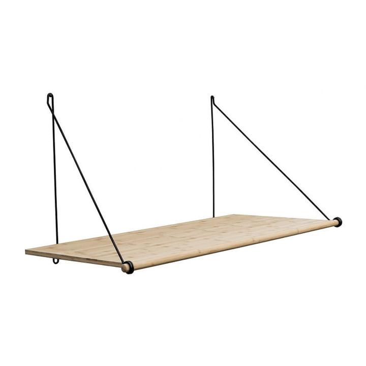 Le Loop Shelf chêne / acier noir de We Do Wood