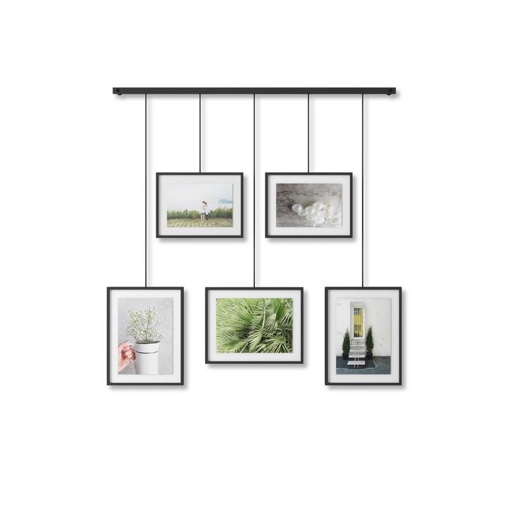 Le cadre photo de Exhibit de Umbra en noir