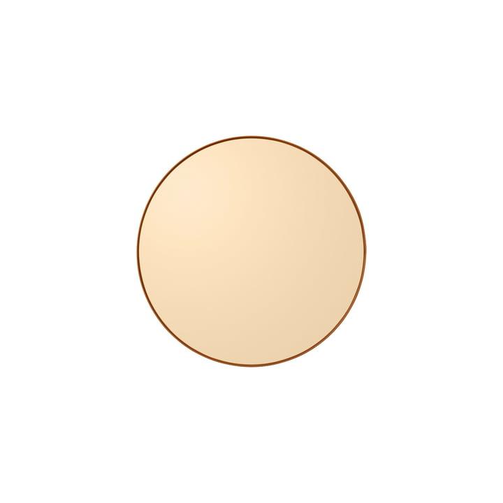 Le Circum miroir mural extra petit, Ø 50 cm, ambre de AYTM