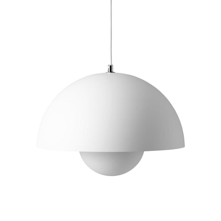 Lampe à suspension FlowerPot VP7 en blanc mat de & tradition